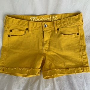 Madewell Yellow Shorts Size 26